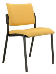 čalouněná židle SQUARE,černý plast