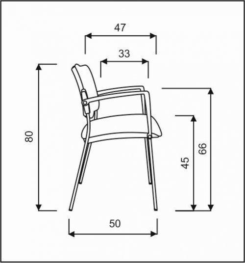 čalouněná židle SQUARE,černý plast kancelárská stolička