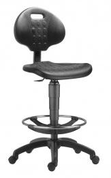 židle 1290 3050 PU NOR, plast, extend, kolečka kancelárská stolička