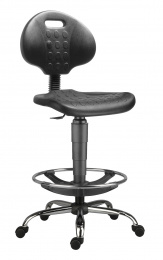 židle 1290 3150 PU NOR, chrom, extend, kolečka kancelárská stolička