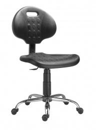 židle 1290 3100 PU NOR, chrom, kolečka kancelárská stolička