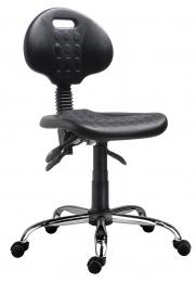 židle 1290 5100 PU ASYN, chrom, kolečka kancelárská stolička