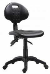 židle 1290 5109 PU ASYN - chrom, kluzáky kancelárská stolička