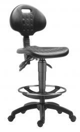 židle 1290 5050 PU ASYN, plast, extend, kolečka kancelárská stolička