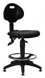 židle 1290 5059 PU ASYN, plast, extend, kluzáky kancelárská stolička