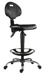 židle 1290 5150 PU ASYN, chrom, extend, kolečka kancelárská stolička