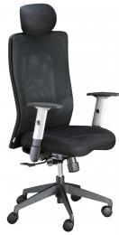 židle LEXA s podhlavníkem, černá kancelárská stolička