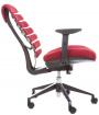 kancelářská židle FISH BONES černý plast, vínová látka TW13