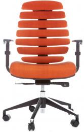kancelářská židle FISH BONES černý plast,oranžová látka SH05