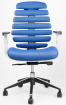 židle FISH BONES šedý plast,modrá látka MESH TW10