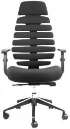 židle FISH BONES PDH černý plast, černá 26-60