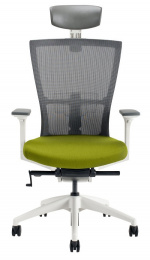židle MERENS WHITE s podhlavníkem