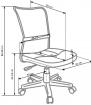 Halmar Dětská židle DINGO - barva fialová kancelárská stolička
