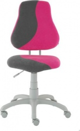 dětská židle FUXO S-line růžovo-šedá kancelárská stolička