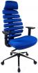 židle FISH BONES PDH černý plast,modrá látka TW10