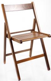 skládací židle SMART PŘÍRODNÍ vlašský ořech kancelárská stolička