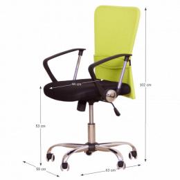 Kancelářská židle AEX, zelená kancelárská stolička