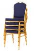 banketová židle Standard Line ST370 modro - zlatá kancelárská stolička
