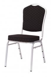 banketová židle Standard Line ST390 černo - stříbrné kancelárská stolička