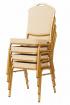banketová židle Standard Line ST314 béžovo - zlatá kancelárská stolička