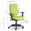 židle LEX asynchro 229/B kancelárská stolička