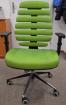 židle FISH BONES černý plast, zelená látka SH06, č. AOJ031