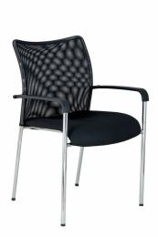 židle TRINITY s područkami-skladová BLACK 27