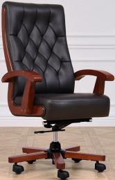 Kancelářské kožené křeslo CONSUL černé