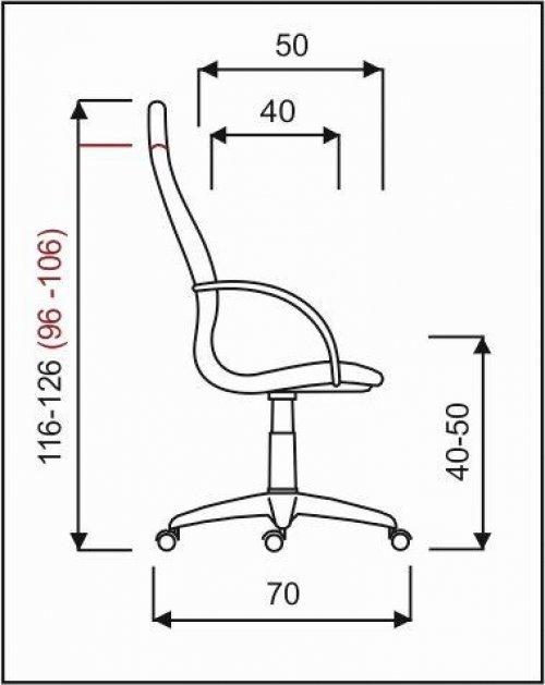 křeslo PALERMO ŠÉF plast, základní mechanika kancelárské kreslo