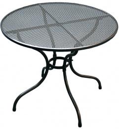 Kovový zahradní stůl TAKO 105cm - U503 kulatý