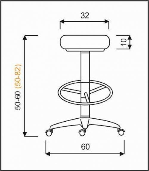 židle NORA čalouněná kancelárská stolička