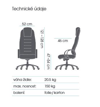 křeslo STRIPO 5320 - černá kancelárské kreslo