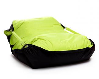 Sedací pytel Omni Bag Duo s popruhy Fluorescent Yellow-Black 191x141